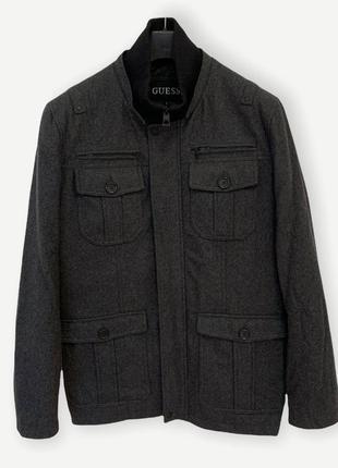 Пальто чоловіче guess чорне оригінал