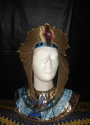 Аксессуары головной убор и нагрудник египтянин фараон унисекс
