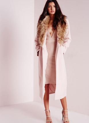 Отнимите от цены10% стильное базовое пальто зима-весна-осень шерсть мех 22,4-5хл,54-56