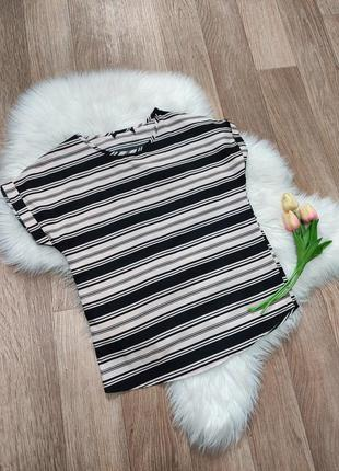 Женская футболка блуза блузка с коротким рукавом в полоску