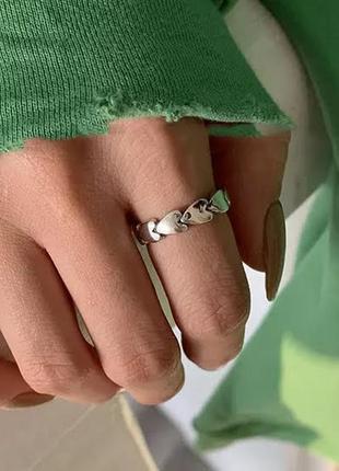 Кольцо нежное сердца серебро 925 проба/ большая распродажа!