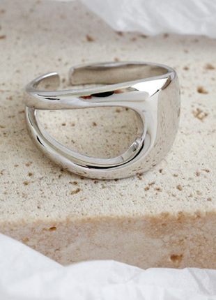 Минимализм кольцо асимметрия серебро 925 / большая распродажа