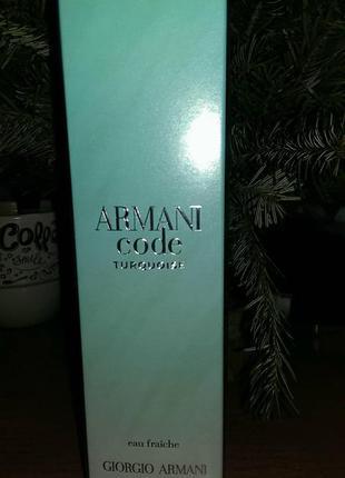 Туалетная вода armani code turquoise