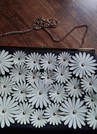 Шикарная сумочка,клатч с цветами
