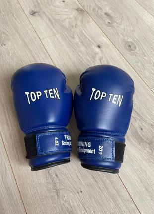 Детские боксёрские перчатки top ten р. 4 oz.