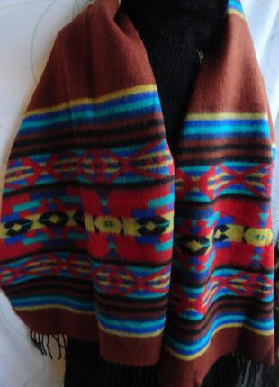 Теплый шарф - палантин