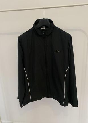 Куртка вітровка adidas чорна чоловіча оригінал вінтаж