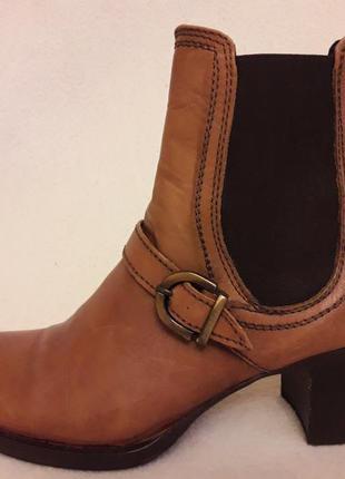 Кожаные итальянские ботинки челси фирмы letizia borghi p. 38 стелька 25 см