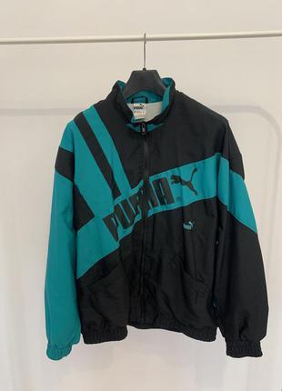 Куртка вітровка puma вінтажна чорна