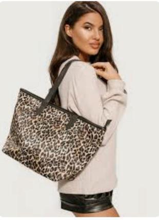 Сумка шоппер сумочка леопардовый принт