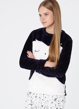 Теплая пижамная/домашняя плюшевая кофта oysho