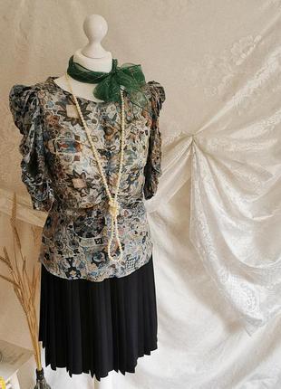 Винтажная шёлковая блуза рубашка