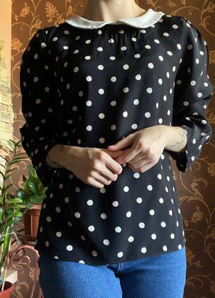 Рубашка, блуза в горох, с укороченным рукавом от atmosphere