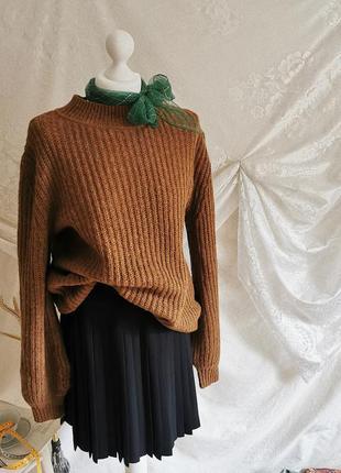 Винтажный шерстяной вязаный свитер