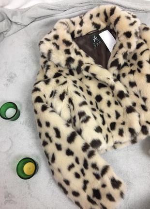 Полушубок искусственный леопардовый