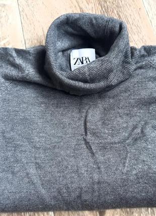 Серый базовый гольф , свитер. размер s