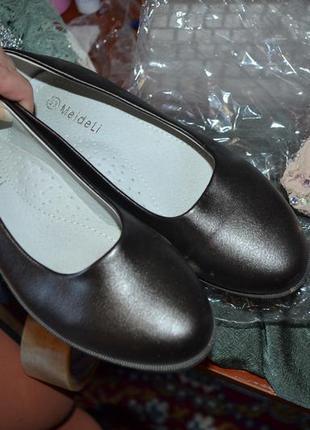 Школьные туфли на девочку! кожа+эко-кожа!