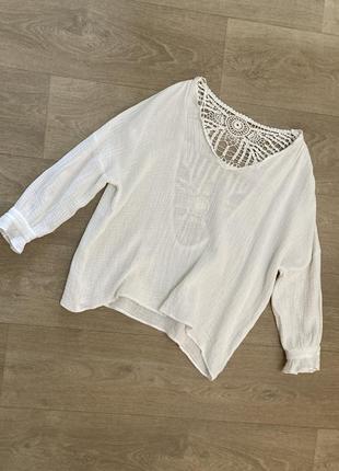 🍀замечательная блуза с кружевной спинкой