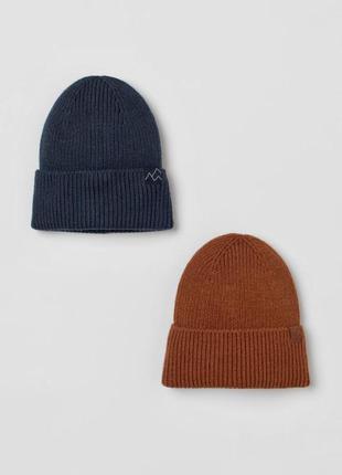 Мягкая вязаная шапка от h&m рост от 110 до 152 см цена за 1 шт