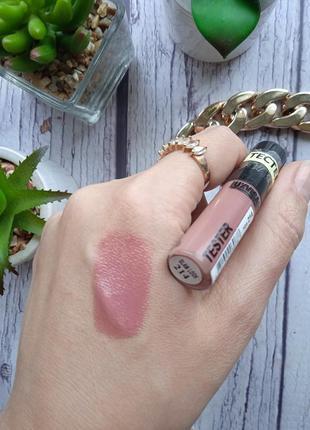 Тестер жидкой помады для губ glam look cream velvet тон 214