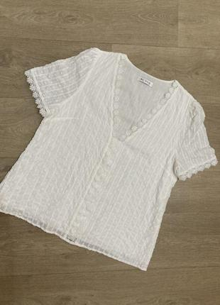 🍀нежная блуза с кружевом