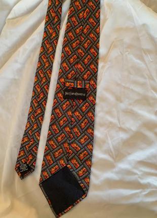 Шелковый галстук ysl yves saint laurent оригинал/ysl винтаж
