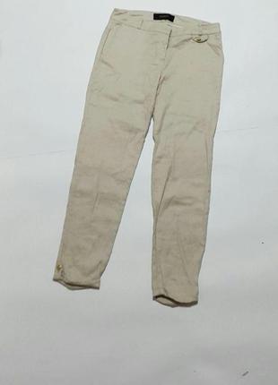 Женские светлые повседневные брюки reserved льняные (51%)