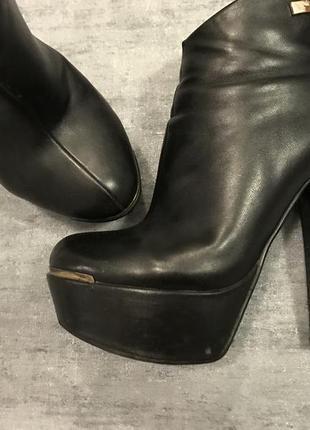 Ботильоны ботиночки чёрные lino marano 36-37