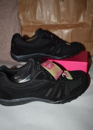 Черные замшевые кроссовки с умной стелькой skechers