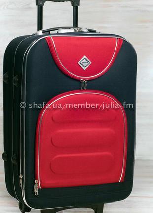 💙 средний чемодан тканевый дорожный валіза середня без передплат на колесах