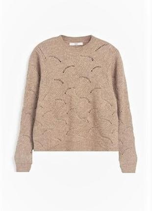 Свитер вязаный с ажурным плетением / большая распродажа!