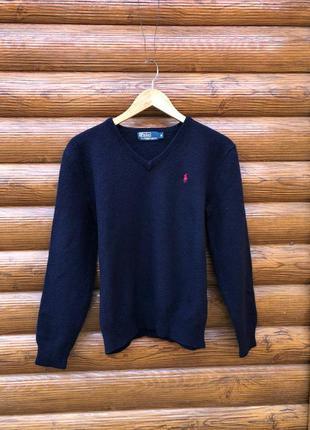 Шерстяной свитер кофта свитшот polo ralph lauren