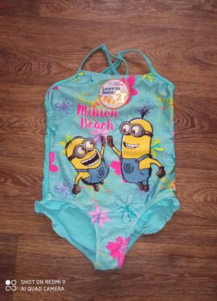 Детский цельный купальник для девочки для отдыха