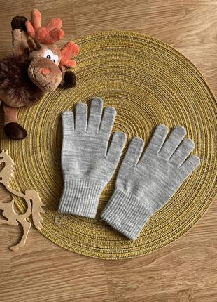Дитячі рукавички, рукавиці, серые перчатки c&a