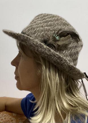 Marks & spencer стильная новая шляпа ( в составе ангора)