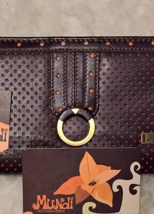 Перфорированный кожаный кошелек mundi accessories испания.