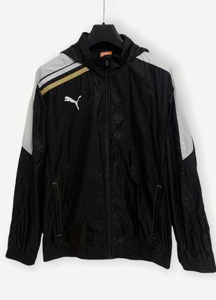 Куртка вітровка дощовик puma чорний чоловічий оригінал
