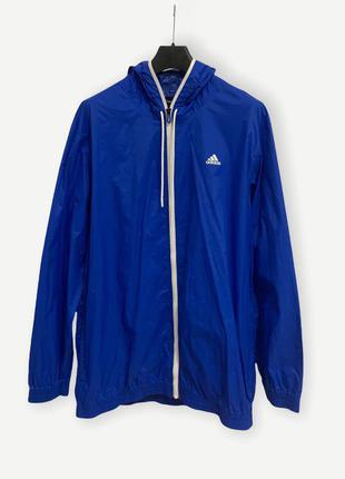 Куртка вітровка ветровка дощовик дождевик adidas синій чоловічий оригінал