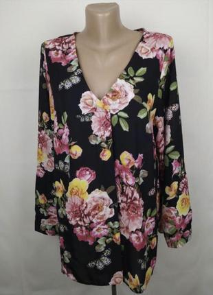 Шикарная блуза в цветочный принт george