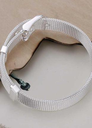 Серебряный браслет с застёжкой