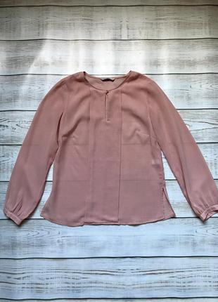 Блуза блузка нарядная розовая пудровая нежная шифон