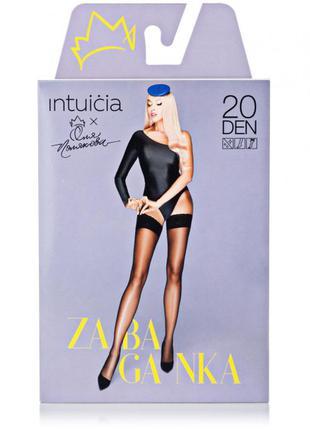 Телесные чулки 3-m, 4-l 20 den intuicia zabaganka на силиконе с матирующим эффектом