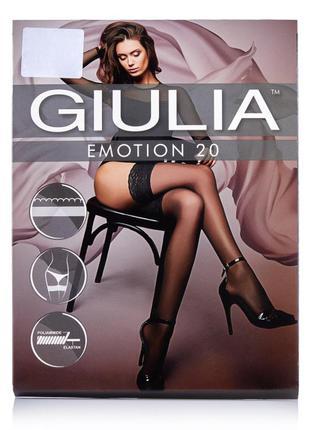 Черные матовые чулки 1/2 р. 20 den giulia emotion на силиконе