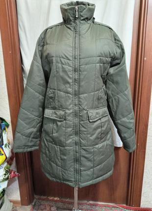 Пальто,деми,хаки,новое, р.52,54,56.ц.320 гр