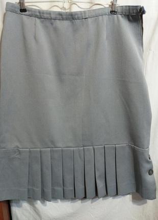 Юбка,юбочка,серая,батал ,р 52,54,ц. 80 гр