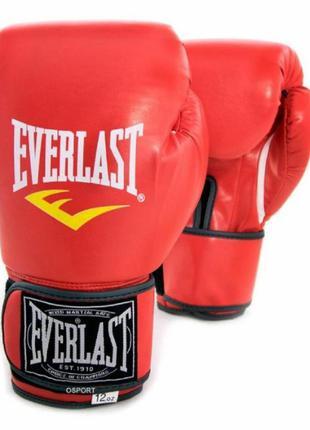 Перчатки боксерские для бокса / 10 унций / everlas