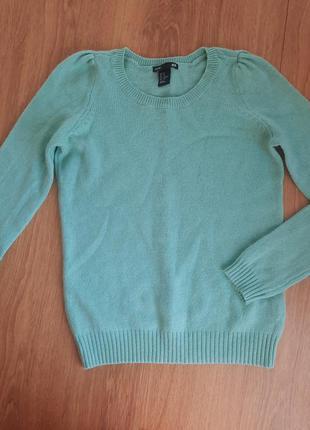 Теплый свитер шерсть h&m xs