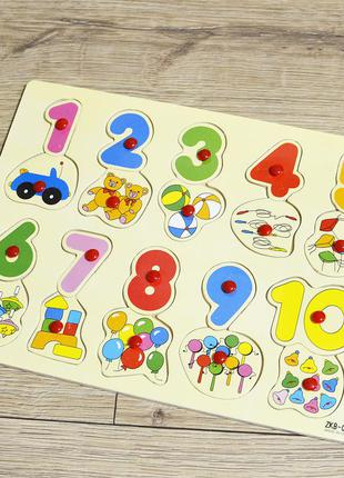 Рамка-вкладыш цифры и предметы