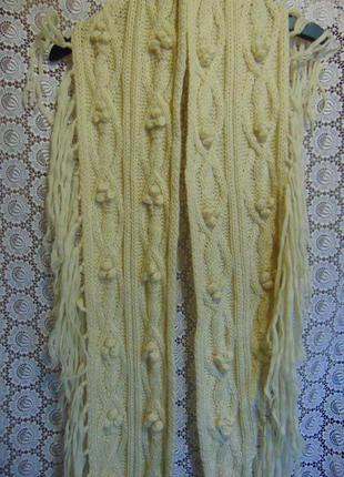Шерстяной длинный шарф с бахромой, tommy hilfiger.