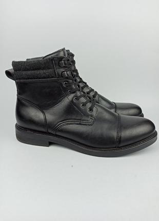 Кожаные ботинки zara размер 45 (29 см.)